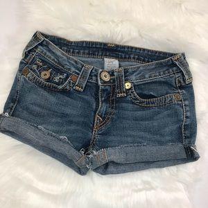 True Religion size 28 cut off denim shorts